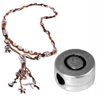 Perle alphabet O en métal