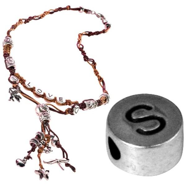 Perle alphabet S en métal - Photo n°1