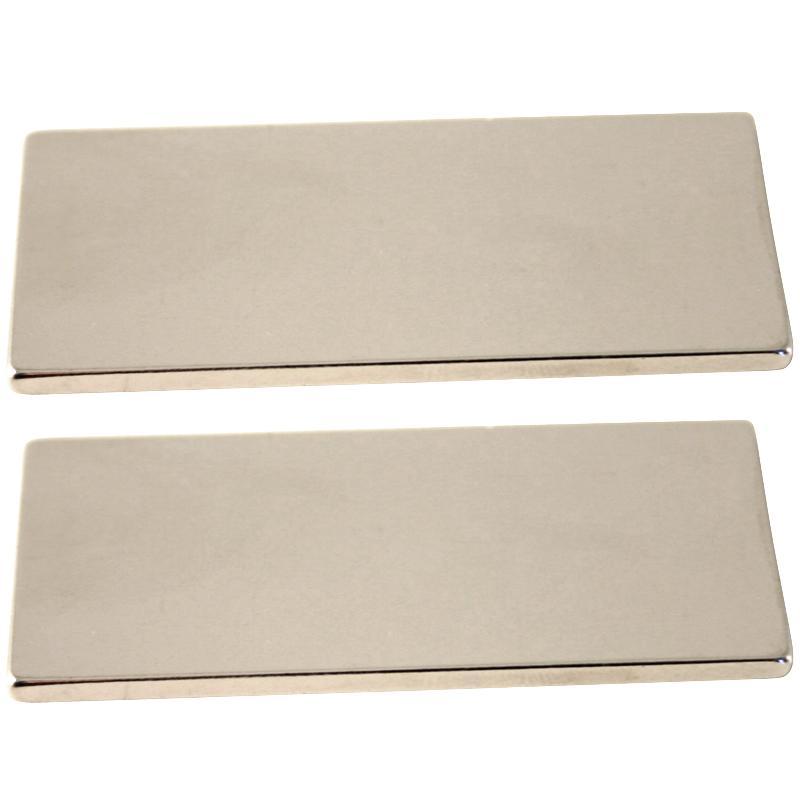 Aimant néodyme rectangle - 50 x 25 mm - 2 pcs - Photo n°1