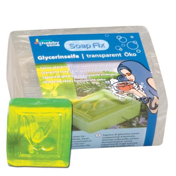 Savon glycérine écologique transparent 500g - Photo n°1