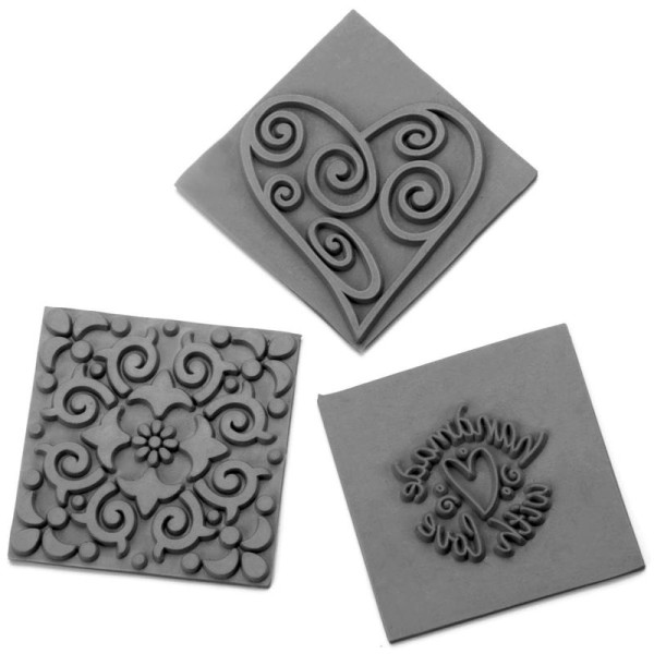 Plaque décorative pour savon impression Ornements - 3 plaques - Photo n°1