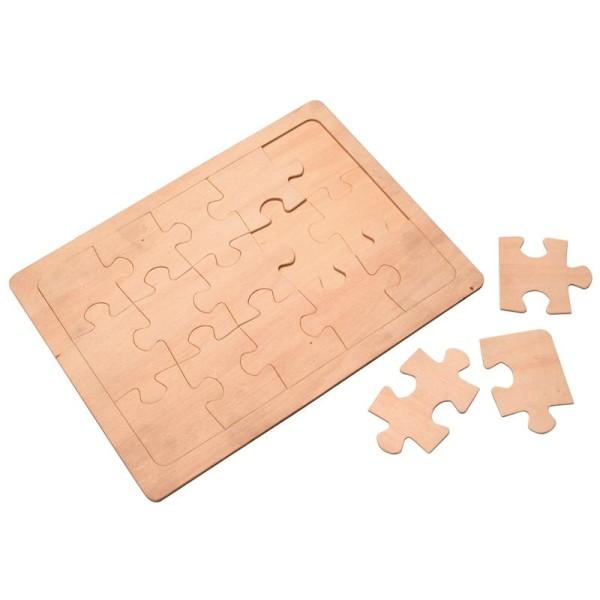 Puzzle en bois 24,5 x18,5 cm - Photo n°1