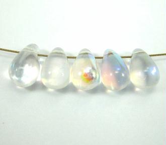 10 Gouttes Bohême en verre Cristal AB - 9*6 mm