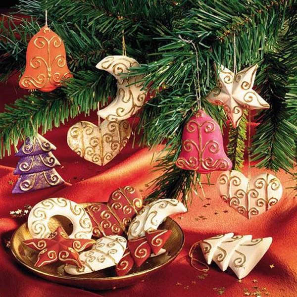 Moule pour FIMO Décoration de Sapin de Noël x 6 - Photo n°2