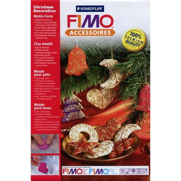 Moule pour FIMO Décoration de Sapin de Noël x 6 - Photo n°1