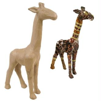 Girafe en papier maché 28 cm