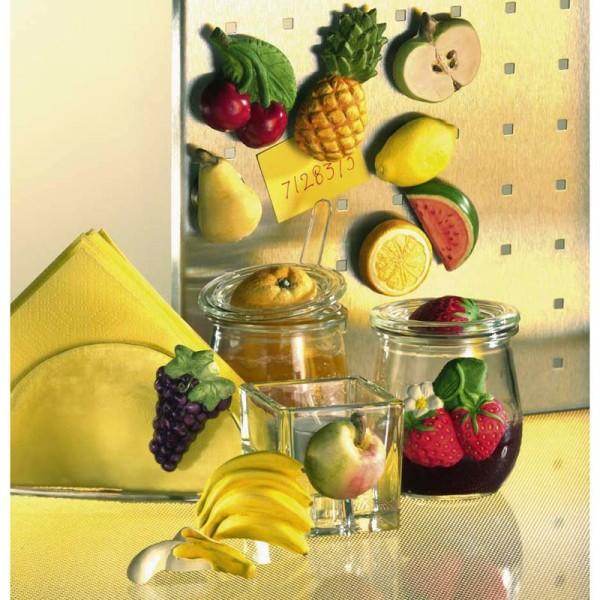 Moule pour FIMO Fruits x 14 - Photo n°2