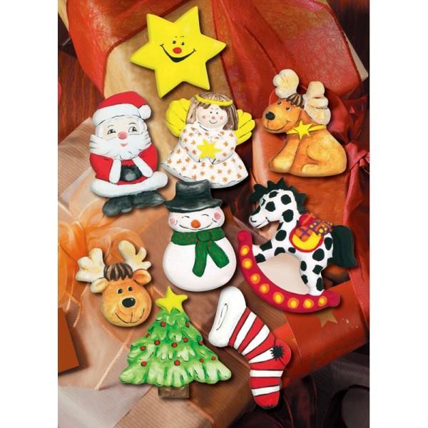 Moule pour FIMO Sujets de Noël x 9 - Photo n°2