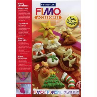 Moule pour FIMO Sujets de Noël x 9
