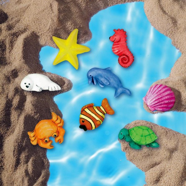 Moule pour FIMO Animaux de la mer x 8 - Photo n°2