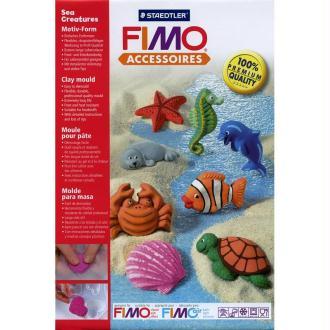 Moule pour FIMO Animaux de la mer x 8