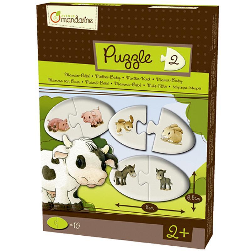 Puzzle 2 pièces Maman bébé - 10 puzzles - Photo n°1