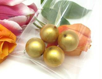 Lot de 2 Perles magiques Rondes Jaune - 18 mm
