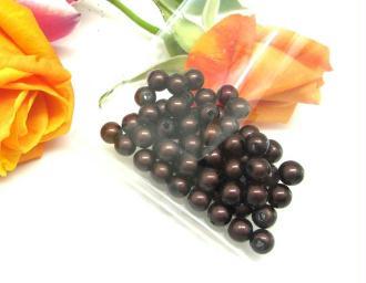 Lot de 20 Perles magiques Rondes Marron Chocolat - 6 mm
