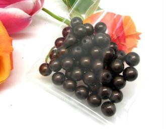 Lot de 10 Perles magiques Rondes  Marron Chocolat - 8 mm