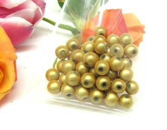 Lot de 10 Perles magiques Rondes  Jaune  - 8 mm