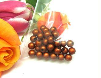 Lot de 10 Perles magiques Rondes  Cuivre  - 8 mm