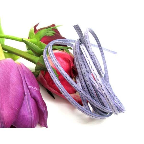 5 mètres de largeur 3mm en daim synthétique cordon-lavande lilas