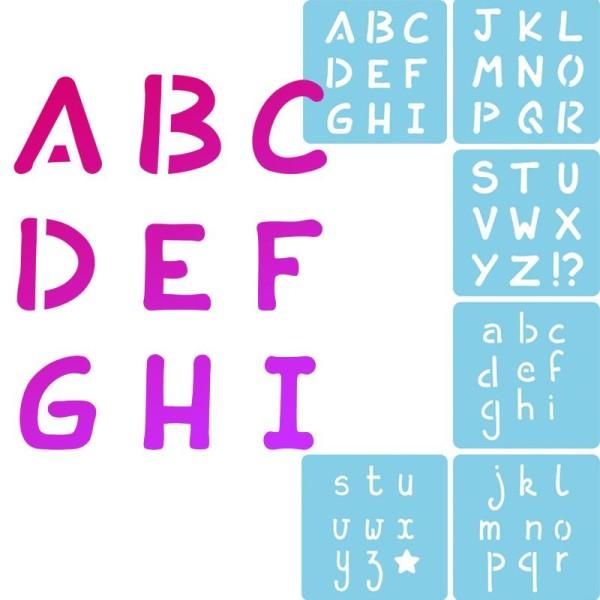 Pochoir enfant Alphabet - Set de 6 - Photo n°1