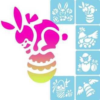 Pochoir enfant Pâques - Set de 6