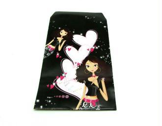 5 Pochettes Cadeaux  Papier Fantaisie Belle au Coeur - 13.5*7 cm