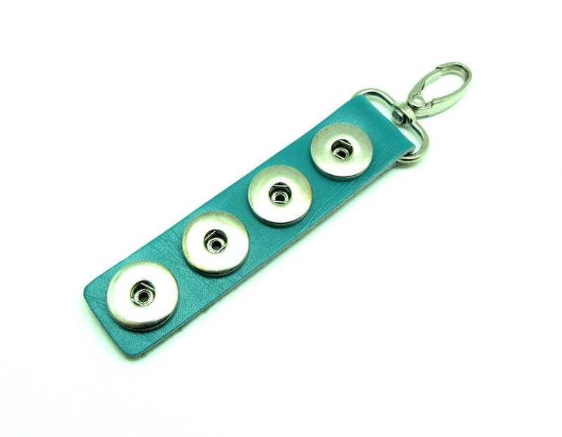 1 porte cl cuir turquoise support 4 boutons pressions 18 - Bouton de porte en porcelaine ...