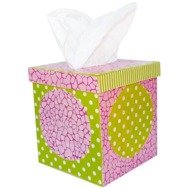 Boîte à mouchoirs carrée en papier mâché - Photo n°3