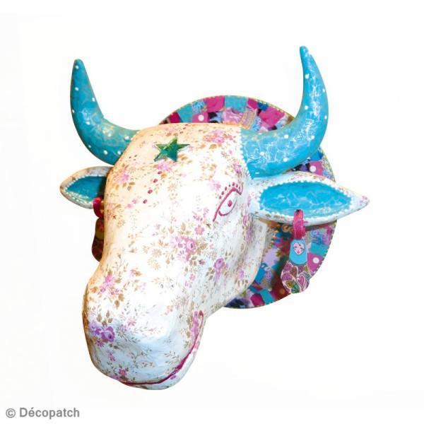 Tête de vache en papier mâché 24 cm à suspendre - Photo n°3