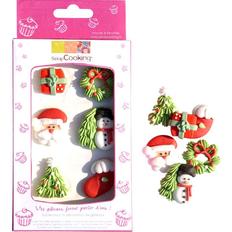 Sucres décoratifs Noël x 6 - Photo n°1