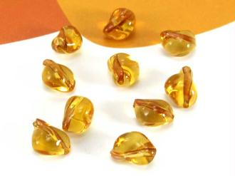Lot de 10 Perles Murano Grains Café Ambre - 8*6 mm
