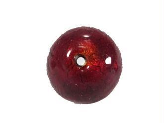 1 Perle de Murano  Ronde Rouge - 10mm