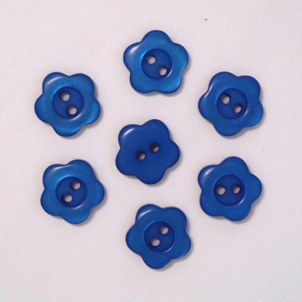 Lot de 10 Boutons Fleur à 2 trous de 12 mm Blanc