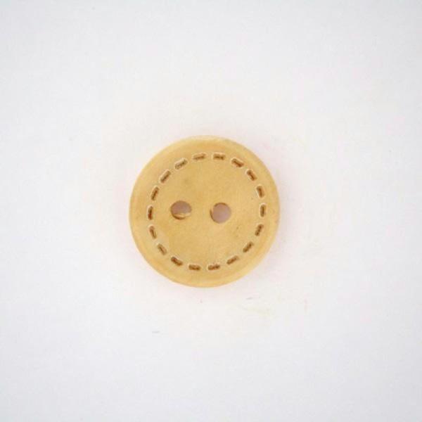 LOT 6 BOUTONS Jaune D/'or 15 mm  4 trous  Yellow button mercerie 1,5 cm