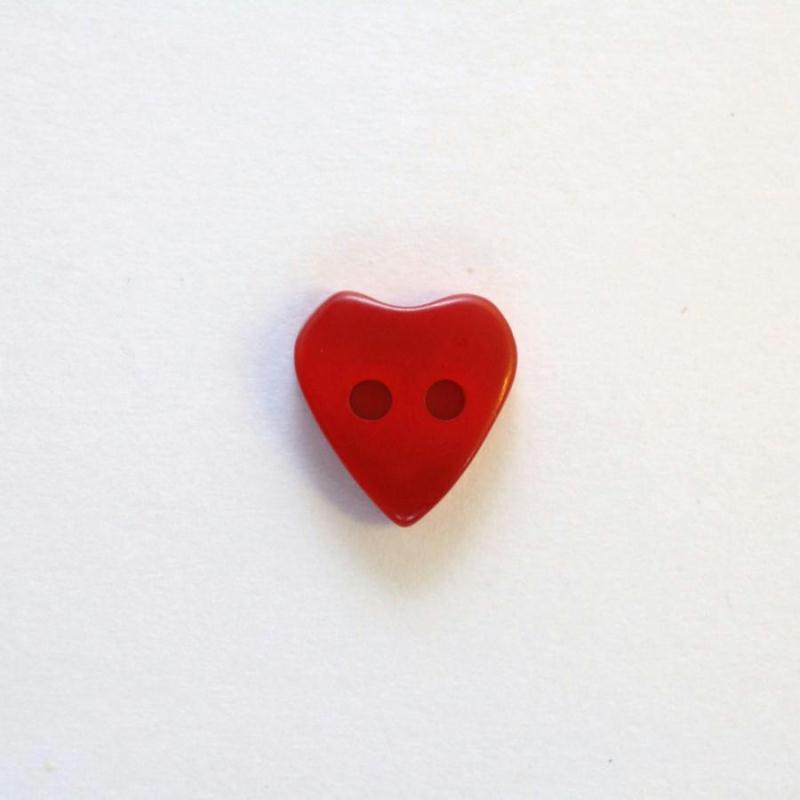Lot de 10 Boutons Coeur à 2 trous de 12 x 11 mm Rose clair
