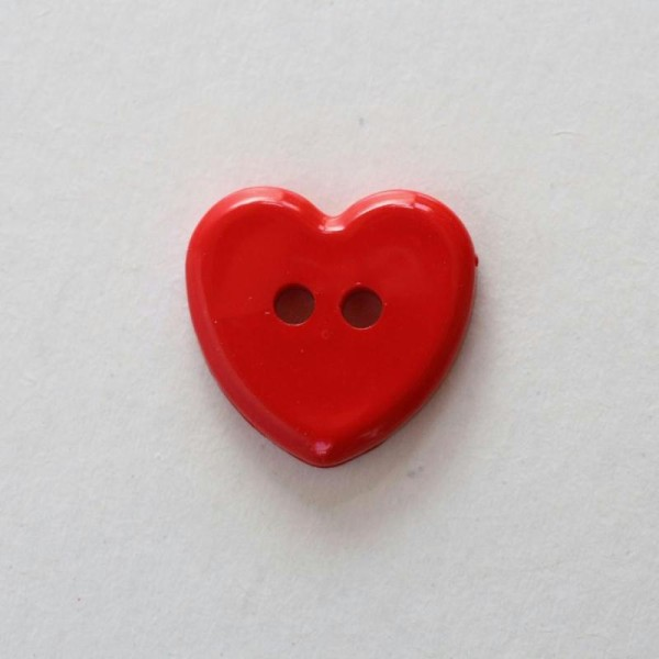 Tricot Cr/éations Lot DE 10 x Boutons Coeur /à Queue 15mm Rouge