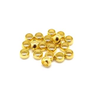 75 Perles à écraser Métal Doré 4mm