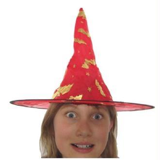 Chapeau organza rouge