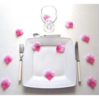100 pétales roses vifs - Diam. 5 cm