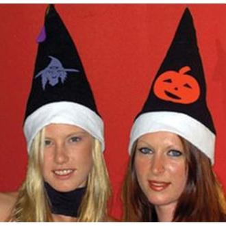 Bonnet pompon Halloween