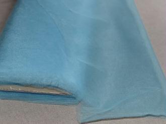 Tissu Tulle Souple Bleu Ciel Largeur 300cms au mètre