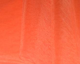 Tissu Tulle Souple Orange Largeur 300cms au mètre