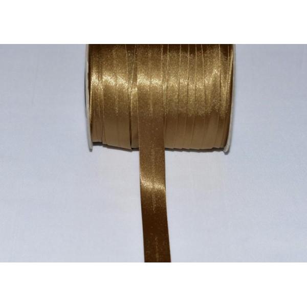 18 mm BIAIS SATIN SEIGLE FONCE LARGEUR AVEC RABATS DE 7 mm au mètre