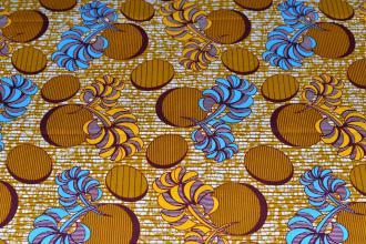 Tissu Wax 129 100% Coton au mètre
