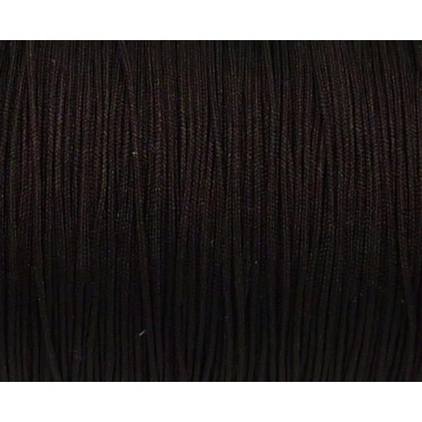 10m Fil De Jade 0,8mm De Couleur Marron Foncé Brun  - Idéal Noeud Coulissant - Wrap - Shamballa - Photo n°1