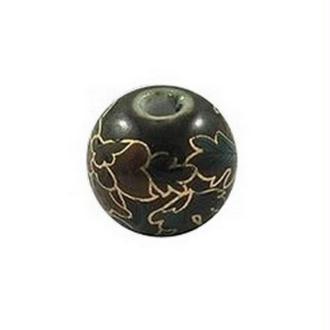 10 perles céramique porcelaine rondes 1 cm DECORATION NOIRE