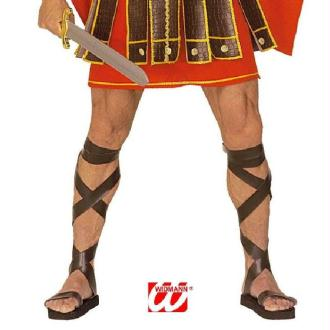 Paire de sandales romaines avec lacets