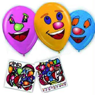 10 Ballons rigolos avec stickers