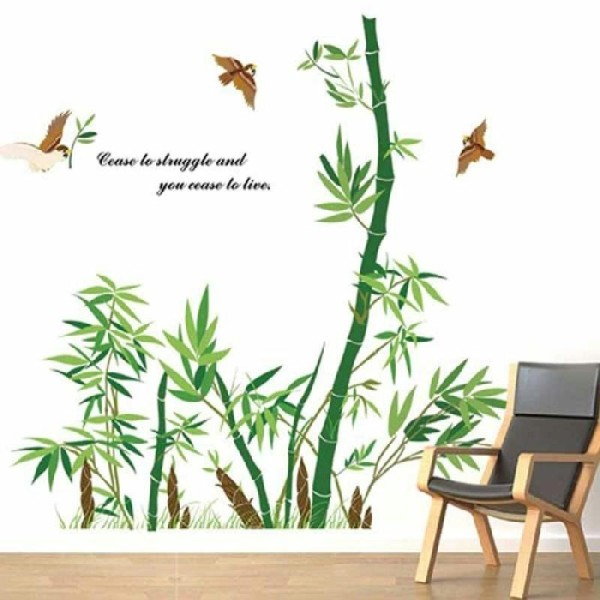 Sticker Adhésif Pan De Mûr Bambou (160 X 170 Cm)   Photo N°