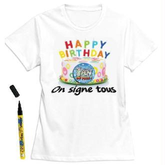 T-Shirt femme 1 an de plus à dédicacer - Taille M