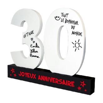 Dédicaces 3D anniversaire 30 ans - 23 x 29 cm